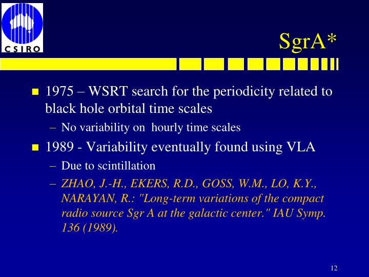 1975 – WSRT search for the periodicity related to black hole orbital time scales