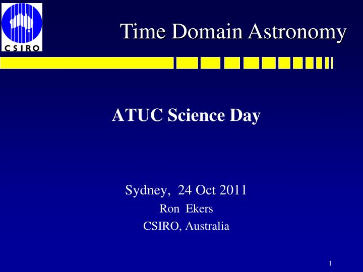 time domain astronomy