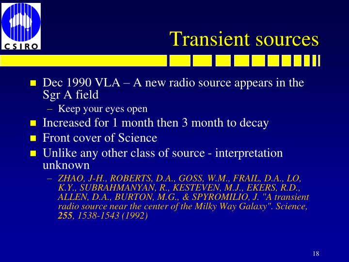Dec 1990 VLA – A new radio source appears in the