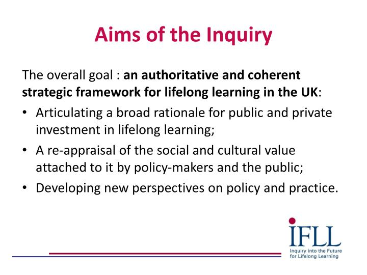 Aims of the Inquiry