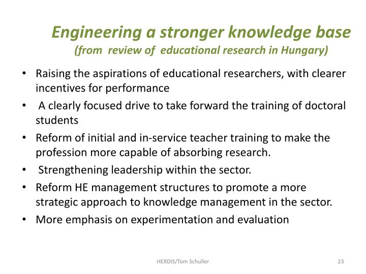 Engineering a stronger knowledge base
