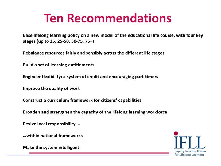 Ten Recommendations