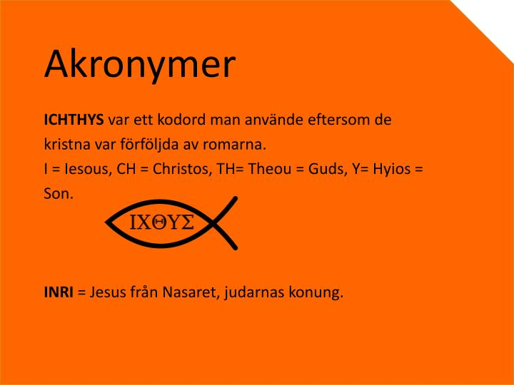 Akronymer