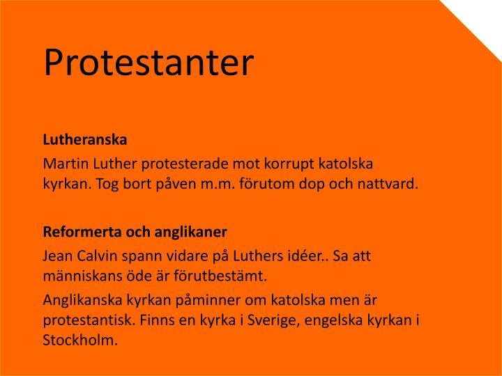 Protestanter