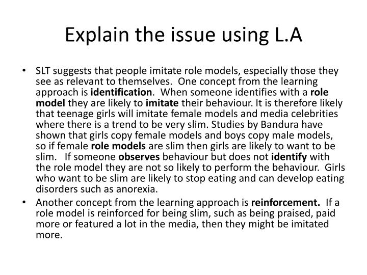 Explain the issue using L.A