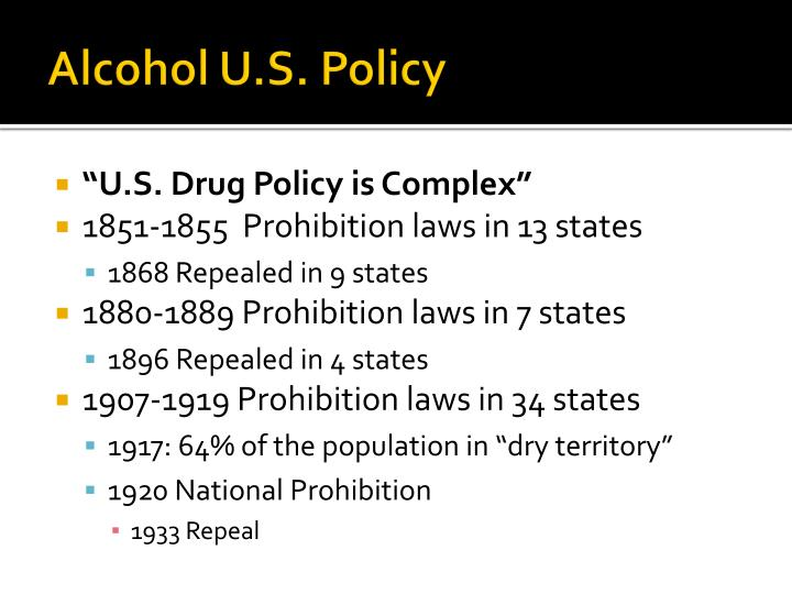 Alcohol U.S. Policy