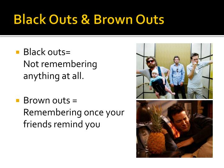 Black Outs & Brown Outs