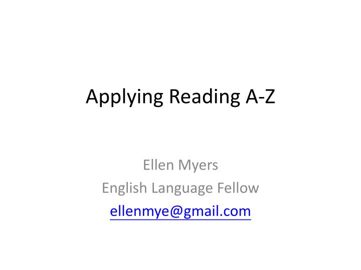 Applying reading a z