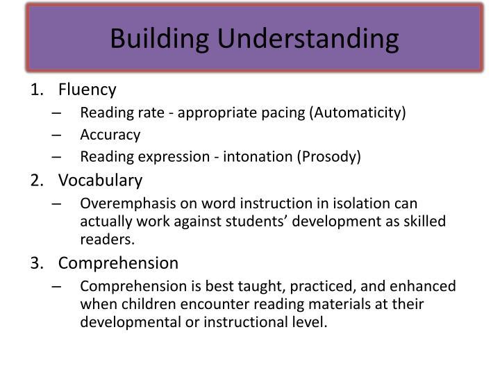 Building Understanding