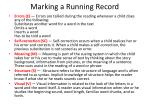 marking a running record