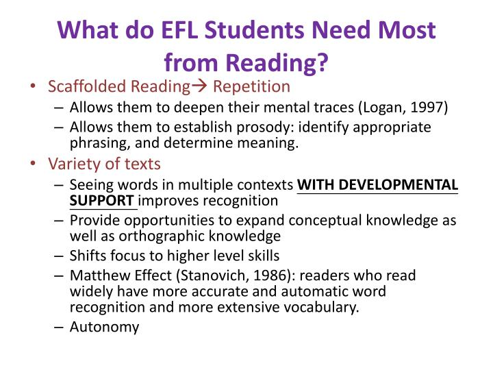 What do EFL Students