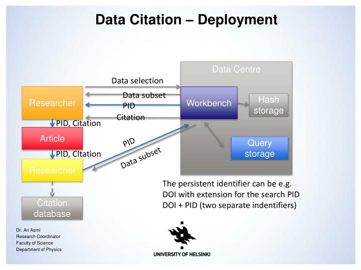 Data Citation –