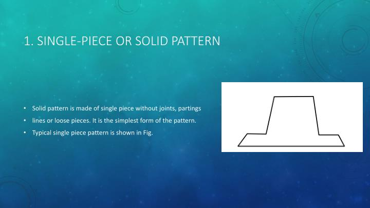 1. Single-piece or solid pattern
