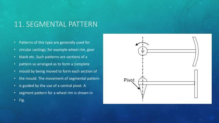 11. Segmental pattern