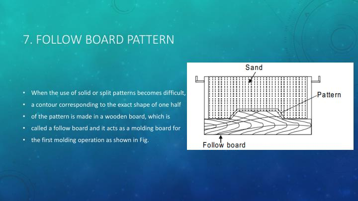 7. Follow board pattern