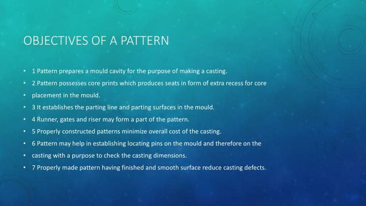 Objectives of a pattern