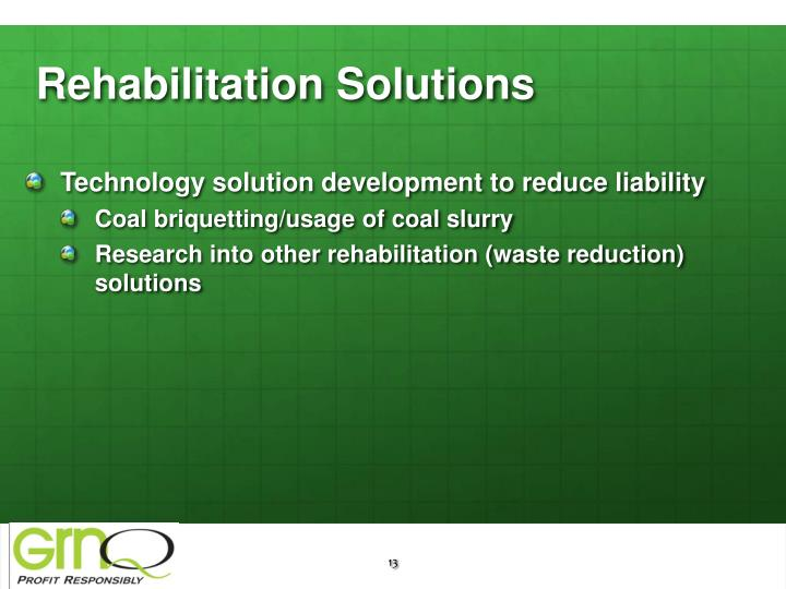 Rehabilitation Solutions