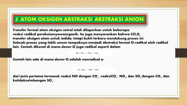 J. ATOM OKSIGEN ABSTRAKSI