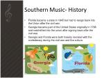 southern music history