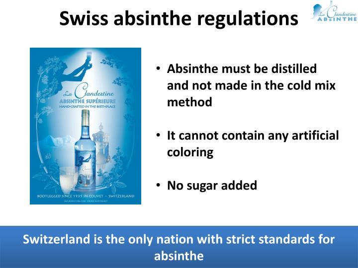 Swiss absinthe regulations