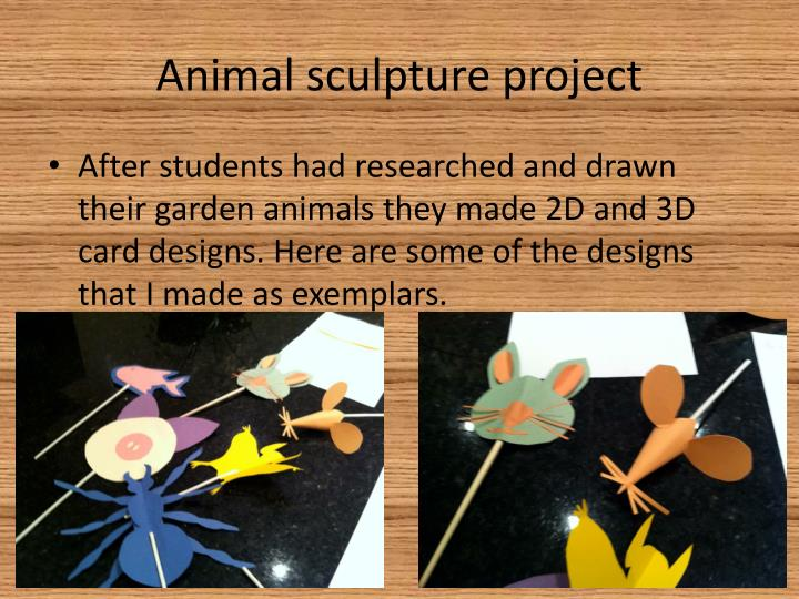 Animal sculpture project