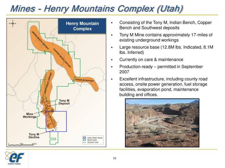 Mines - Henry Mountains Complex (Utah)