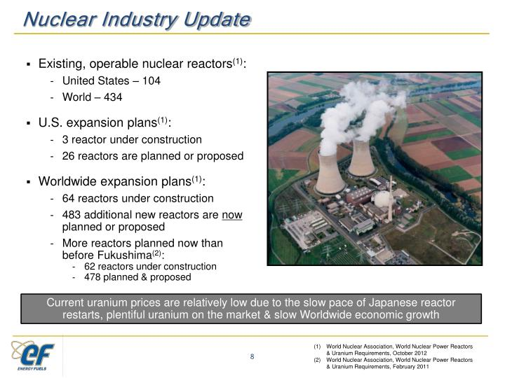 Nuclear Industry Update