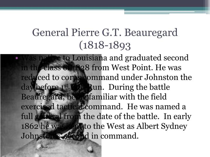 General Pierre G.T. Beauregard