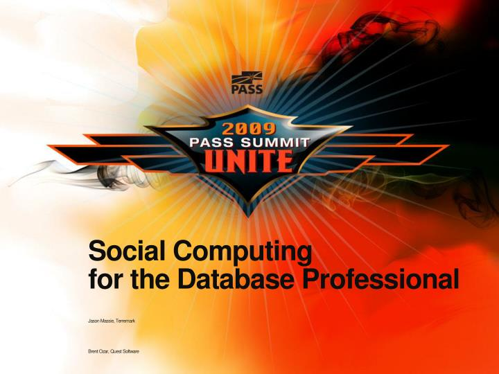 Social computing for the database professional