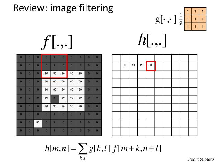 Review: image filtering