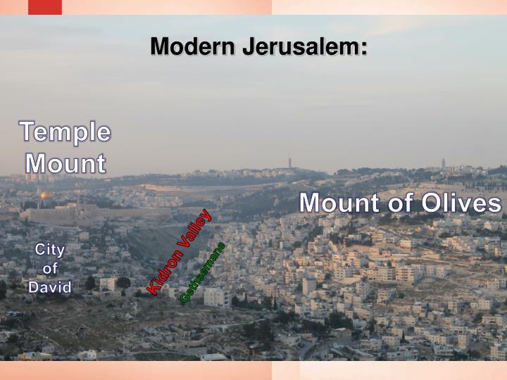 Modern Jerusalem: