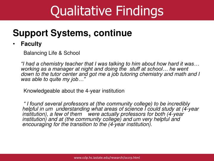 Qualitative Findings