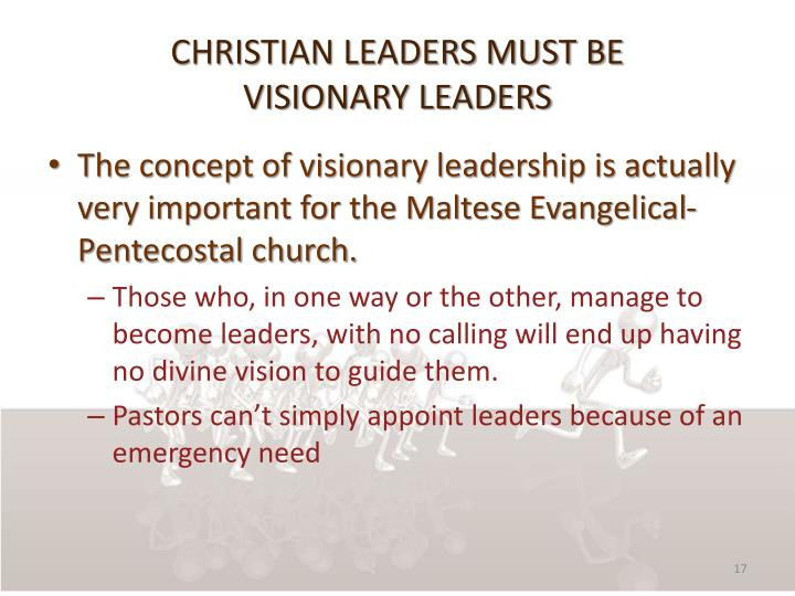 Christian leaders must be