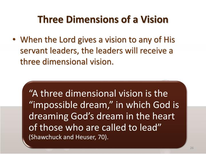 Three Dimensions of a Vision