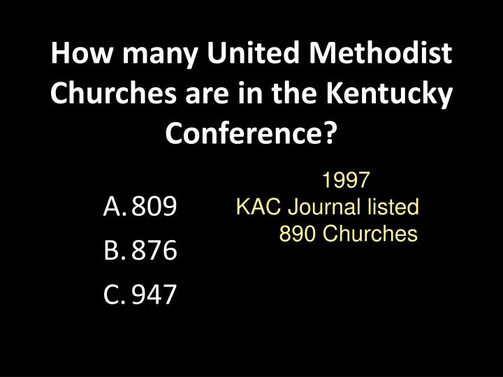 How many United Methodist Churches are in the Kentucky Conference?