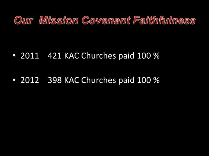 Our  Mission Covenant Faithfulness