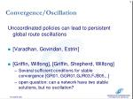 convergence oscillation