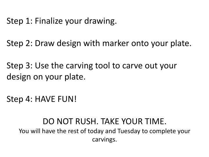Step 1: Finalize your drawing