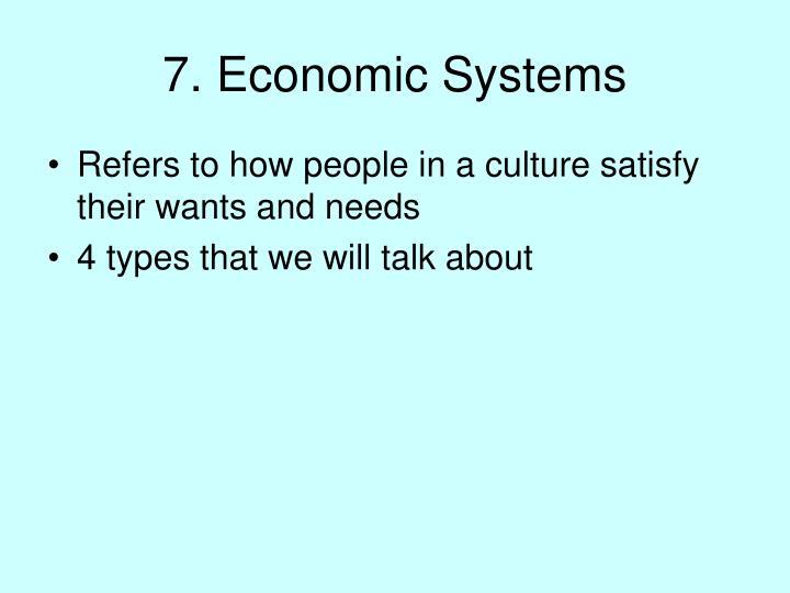 7. Economic Systems