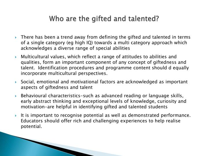 Who are the gifted and talented?