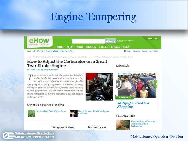 Engine Tampering
