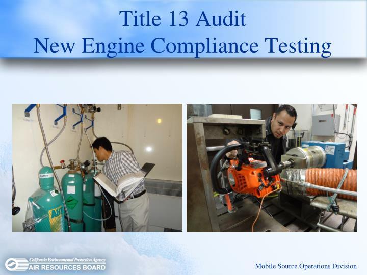 Title 13 Audit