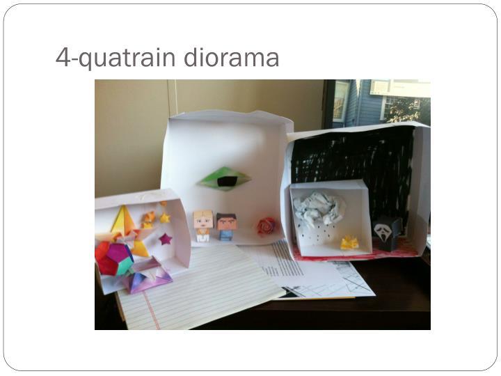 4-quatrain diorama