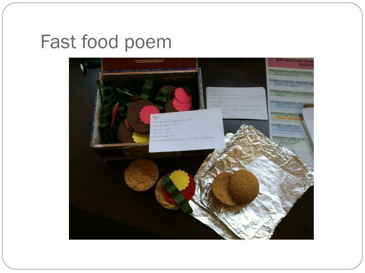 Fast food poem