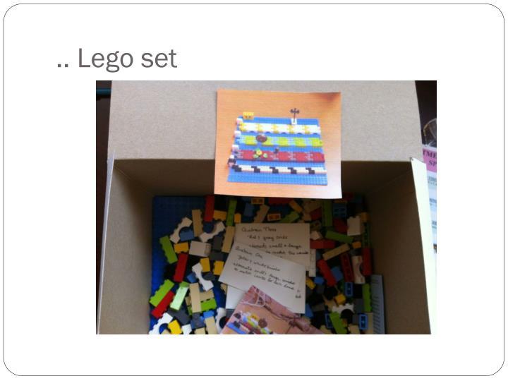.. Lego set