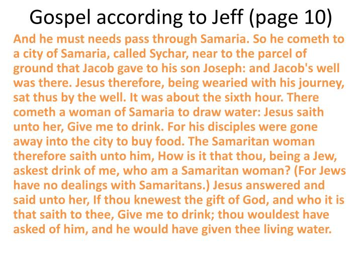 Gospel according to Jeff (page 10)