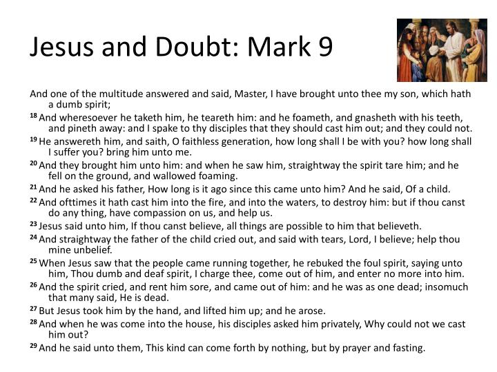 Jesus and Doubt: Mark 9