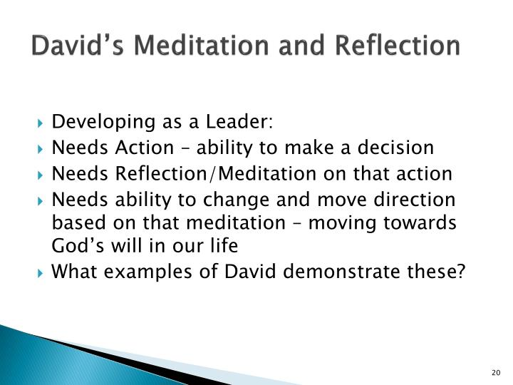 David's Meditation and Reflection