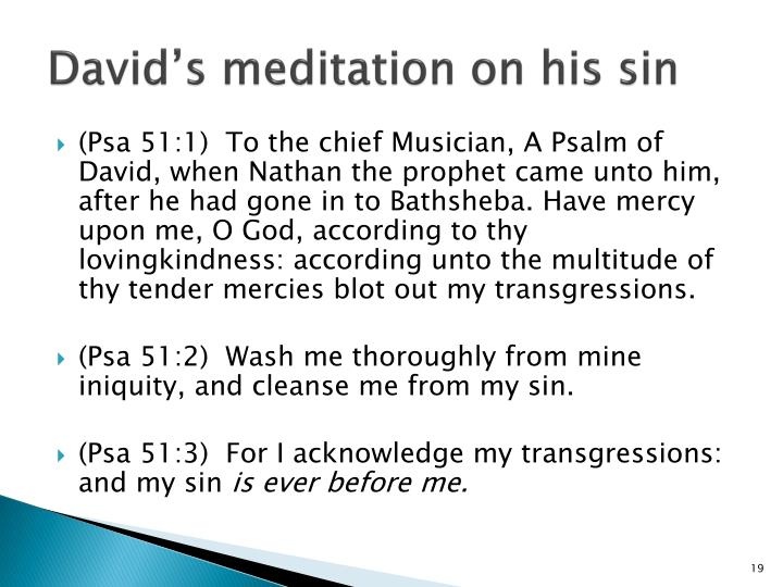 David's meditation on his sin