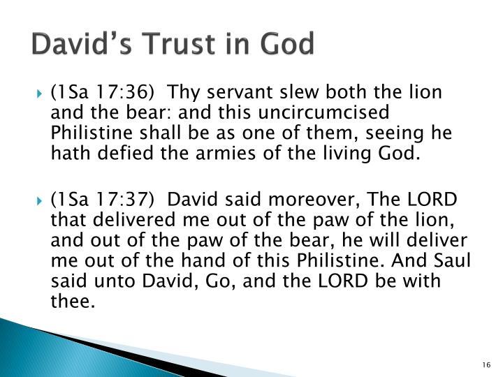 David's Trust in God